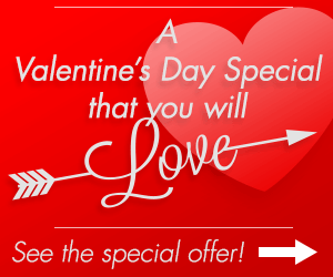 Valentine's day Special - see coupons page'