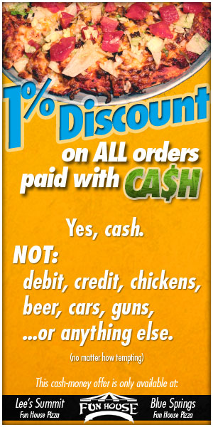 Pay with Cash - get a disount