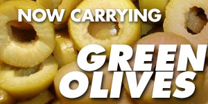Green Olives - Now available at Fun House Pizza Lee's Summit
