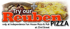 Try our Reuben Pizza!